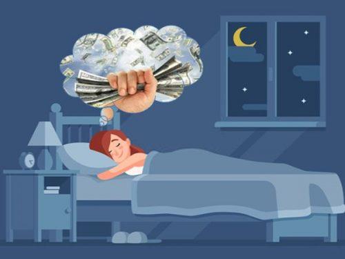 mơ thấy người chết cho tiền