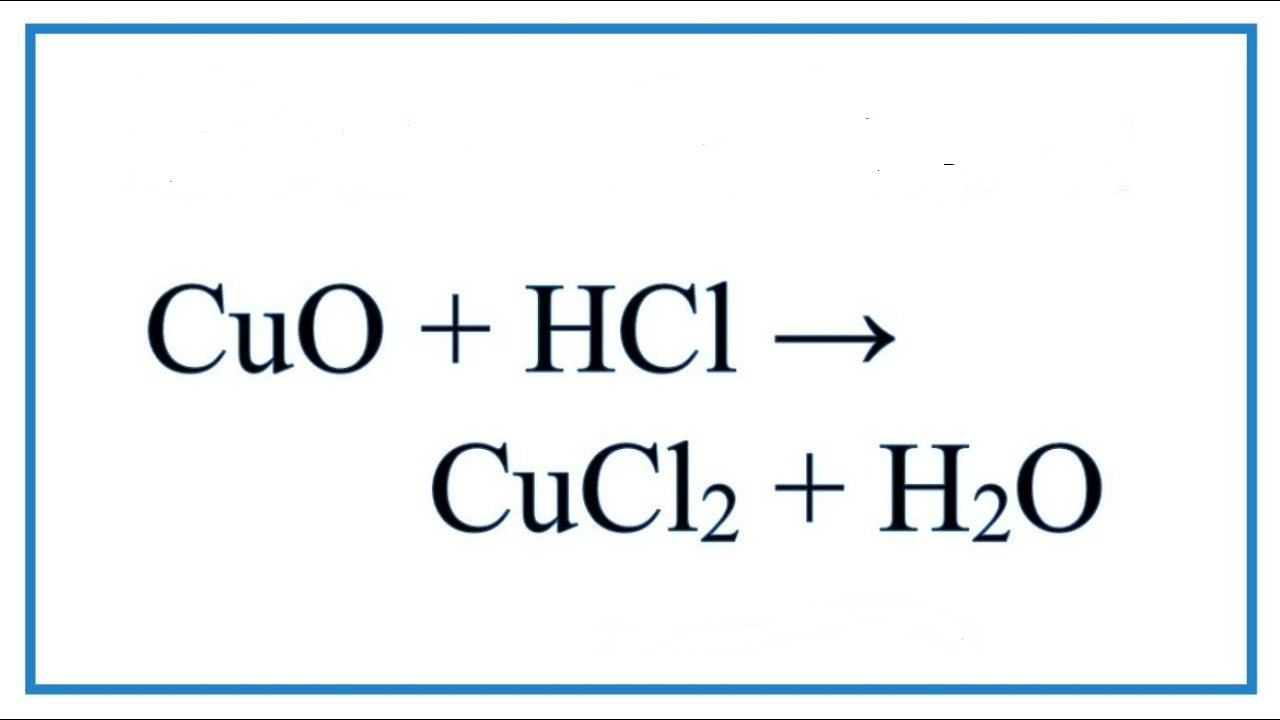 cuo-hcl