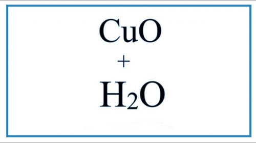 cuo-h2o